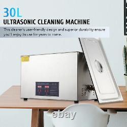 Preenex 304 Acier 30l Litre Industrie Chauffante Nettoyeur Ultrasonore Timer Tet