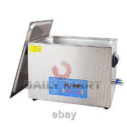 Professionnel 20l Liter Digital Ultrasonic Cleaner Timer & Heater Withcleaning Bask