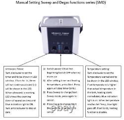 Sweep & Degas Nettoyage De Haute Puissance Professionnel 6l Nettoyeur Ultrasonique