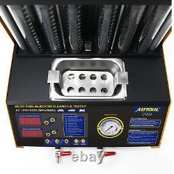 Testeur D'injecteur De Carburant Ultrasonique Ct200 Pour Moteur De Voiture 6 Cylindres 110v 70w