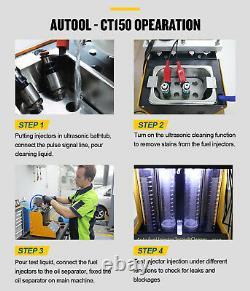 Testeur De Nettoyant À Carburant Ultrasonique Pour Auto Et Moto 4 Cylindres Ct150