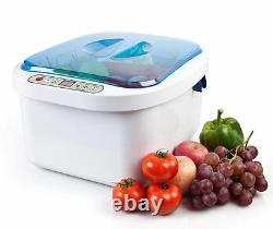 Ultrasonic Ozone Légumes Stérilisateur De Fruits Nettoyant Lave-linge Santé Utilisation À Domicile 12.8l