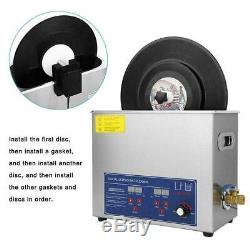 Ultrasons Disque Vinyle Cleaner Rack Réglable Machine De Nettoyage Fiche D'alimentation