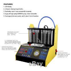 Ultrasons Essence Plus Propre Essence D'injecteur De Carburant Et Testeur 220 V 6 À 4 Cylindres