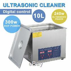 Us 10l Litres De Qualité Industrielle Chauffe-nettoyeur À Ultrasons Professionnel